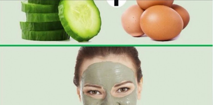 Mask egg and cucumber
